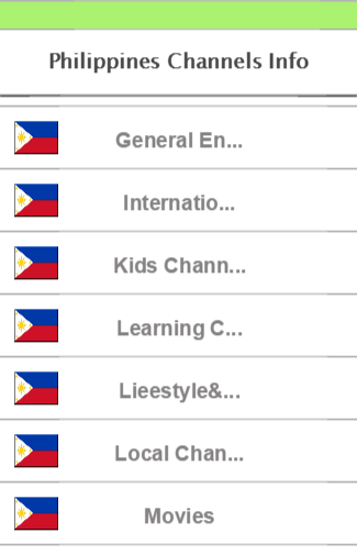Philippines Channels Info