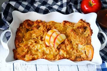Double Apple Caramel Cake