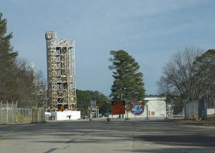 Photo: NASA Marshall Rocket Test Stands - East Entrance