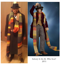 Photo: I'm happy to share my Dr. Who Scarf is finished! This was my hubby's Christmas present and I finished it a couple of days ago.