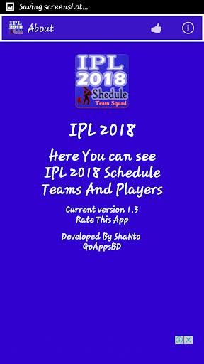 IPL 2018 Schedule 1.5 screenshots 8