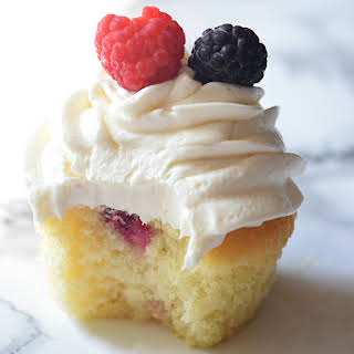 Berry Cupcakes with Berry Marmalade Filling.