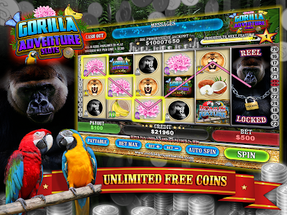Gorilla Adventure Slots Silverback Bucks FREE- screenshot thumbnail