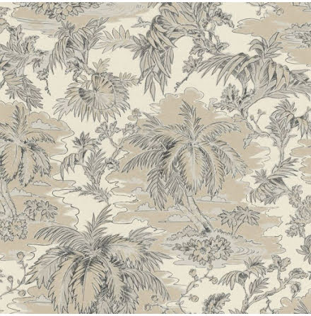 Rasch Vanity Fair 526141 Tapet med tropisk djungel, Beige/Creme