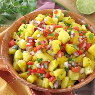 Easy Pineapple Salsa.