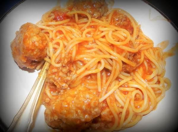 Spaghetti & Meatballs In Ninja Cooking System