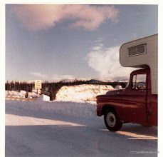 Photo: The AlCan Highway in January 1962.  1500 miles of dirt road.  Nice and smooth packed snow at this time of year.