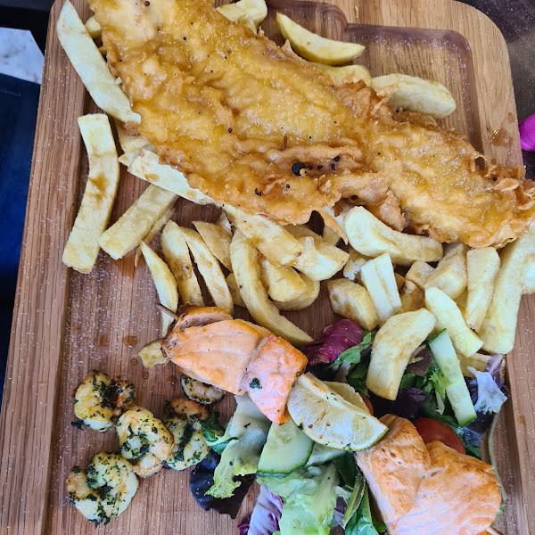 Gluten free fish platter, incredible