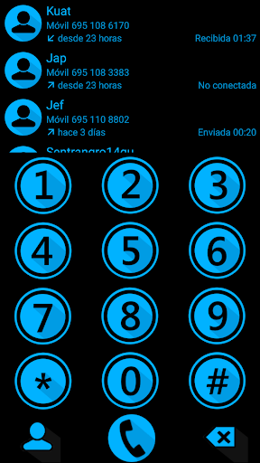 THEME MATERIAL M BLU2 EXDIALER