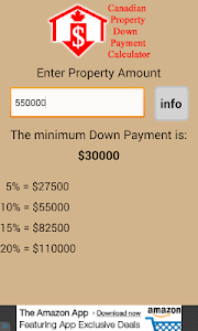 CDN Property Down Payment Calc screenshot 2