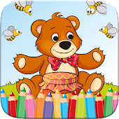 Teddy Bear Coloring Drawing