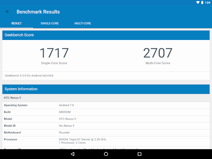 Geekbench 4 Pro Screenshot