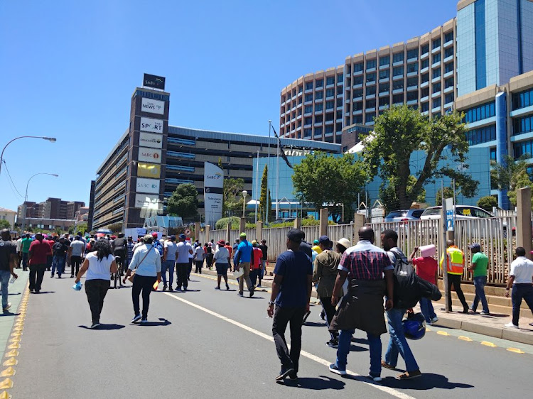 SABC staff went on strike on Thursday after management and staff could not reach an agreement over pay increases.