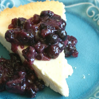 Yogurt Cheesecake with Blueberries Recipe