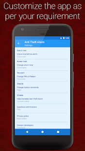Anti-theft alarm- screenshot thumbnail