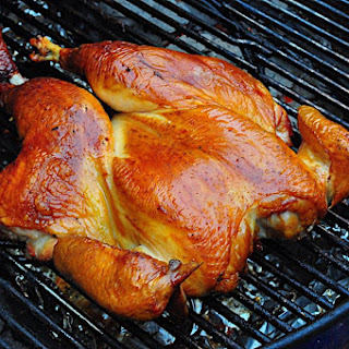 Grilled Butterflied Chicken with Dry Brine.
