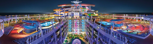 Harmony-of-the-Seas-Perfect-Storm-night.jpg - The Perfect Storm, a trio of wet and wild waterslides, at night on Harmony of the Seas.