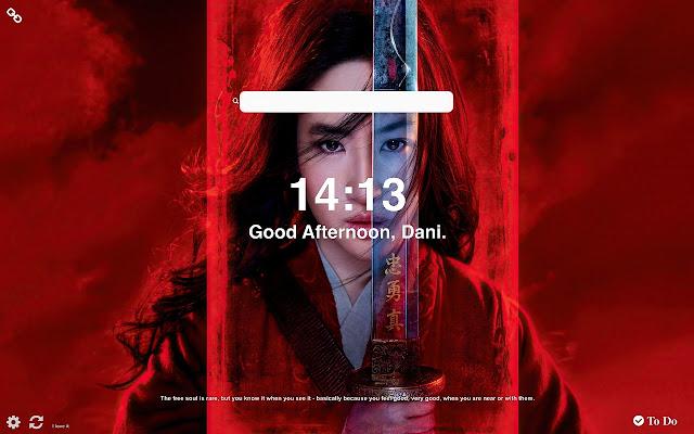 Mulan 2020 HD Wallpapers New Tab