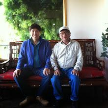 Photo: Ah Mou & Steve Chan met up for lunch at Hong Kong East Ocean