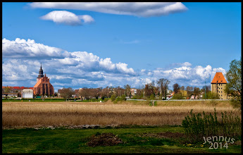 Photo: Wolin [ˈvɔlin] (German: Wollin) is a town situated on the southern tip of the Wolin island off the Baltic coast of Poland. The island lies at the edge of the strait of Dziwna in Kamień Pomorski County in the West Pomeranian Voivodeship. The town, now a fishing port and gateway to the island's bathing resorts, has a population of approximately 4,900. Dating from the 9th century, it has been associated with the semi-legendary settlements of Jomsburg, Jumne, Julin and Vineta.[1] It played an important role in the conversion of Pomerania and in 1140 became the first see of the Pomeranian diocese. Several ruins from the Slavic period occupy the area. The early medieval town fell victim to the late 12th century Danish raids, and was refounded in 1260. Since 1945, the town is part of Poland.