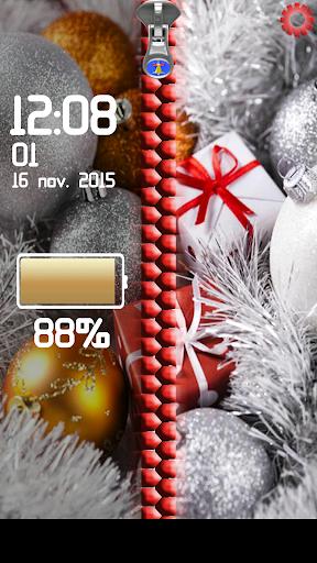 Christmas Zipper Screen lock