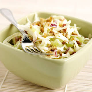 Raw Vegan Waldorf Salad With Cabbage and Apples.