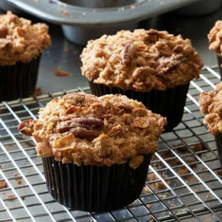 Crunchy Pecan-Banana Coffee Cake Muffins