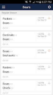 Football Schedule for Bears, Live Scores & Stats - náhled