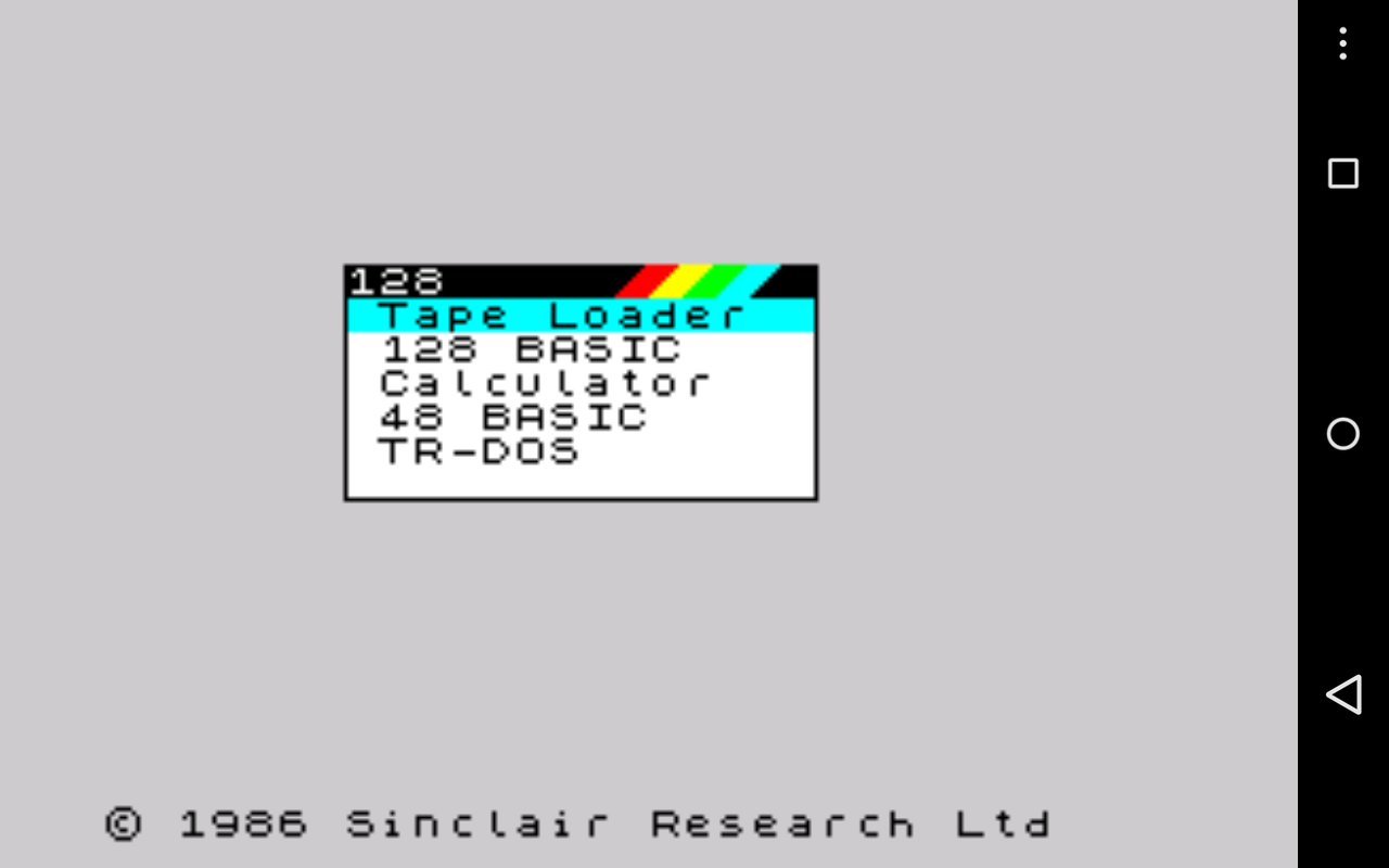 USP - ZX Spectrum Emulator- screenshot