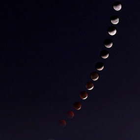 The phases of the moon by Prajwal Ullal - Digital Art Abstract ( canon, urban, concept, super blue blood moon, india, composite,  )