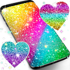 Multi color glitter live wallpaper icon
