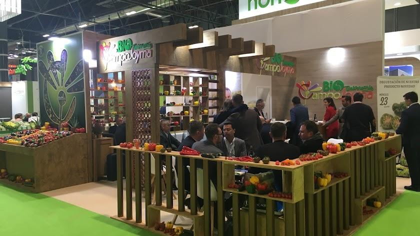 El estand de Campojoyma con sus productos.