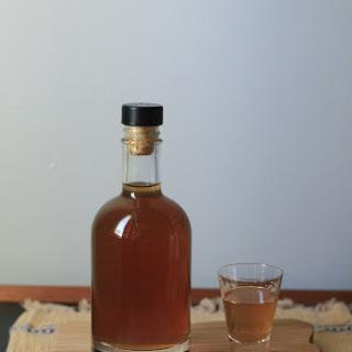 Homemade Hazelnut Liqueur.