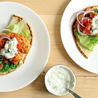 Tandoori-Style Chicken Burgers with Raita