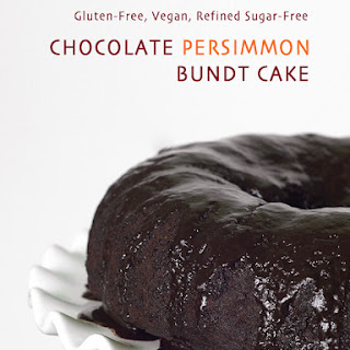 Gluten-Free Vegan Chocolate Persimmon Bundt Cake {Refined Sugar-Free}