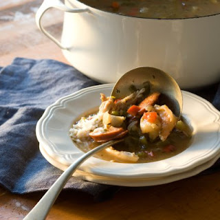 Chicken, Seafood and Sausage Gumbo.