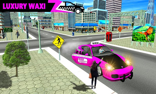 New York Taxi Duty Driver: Pink Taxi Games 2018  captures d'u00e9cran 2