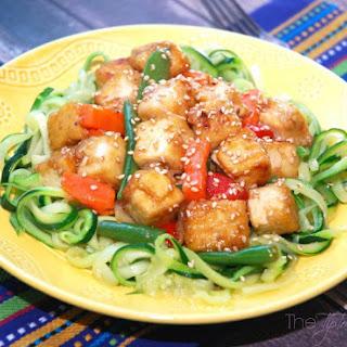 Zucchini Tofu Stir Fry