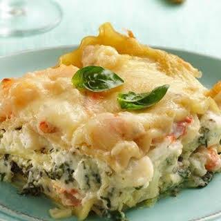 Seafood-Spinach Lasagna.