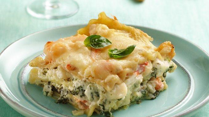 Seafood-Spinach Lasagna Recipe