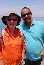 Photo: A nice man we talked with at the marina of Aqaba