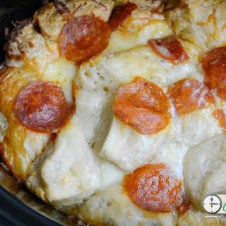 Crockpot Pizza Pull Apart Bread.