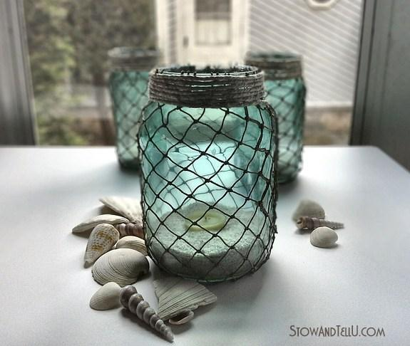 Image result for netted mason jars