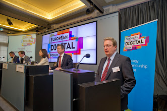 Photo: Paul Hofheinz, president and co-founder of the Lisbon Council and director of the European Digital Forum, opens a high-level plenary on Next Steps on the Digital Single Market