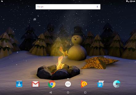 Paper Winter Live Wallpaper screenshot