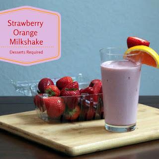 Strawberry Orange Milkshake