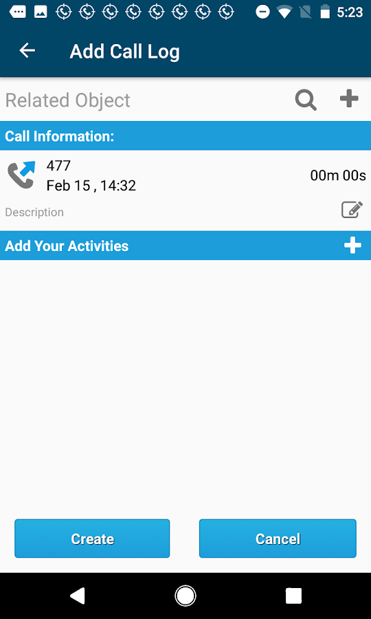 Call Tracker for Salesforce CRM- screenshot
