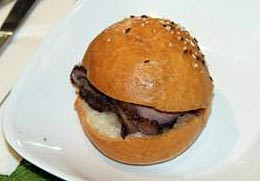 The Royal Kummelweck roast beef sandwich.