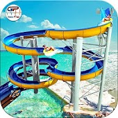 Water Slide in Park Adventure