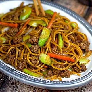 Ground Beef Lo Mein.